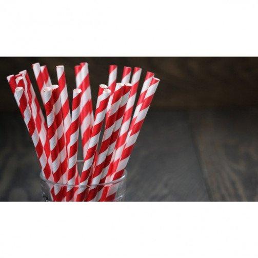 """8"""" Eco- Friendly Paper Straws x 250"""