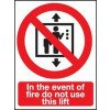 "Self adhesive Sign ""In the event of fire..."""