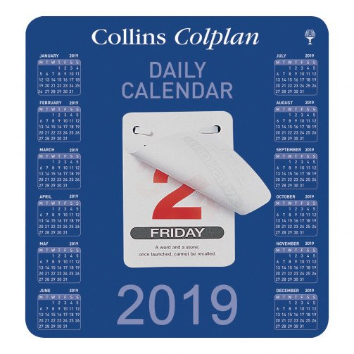 Collins 2019 Daily Block Calendar CDBC