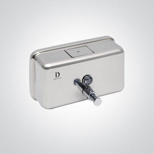 Polished S/Steel Horizontal Soap Dispenser 1200ml Bulk Fill