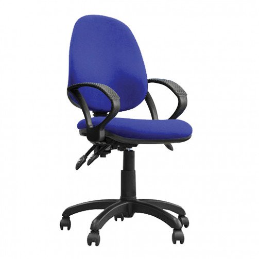 Nile 300 A Blue - High Back Synchronised Operator Chair With Arms  Blue