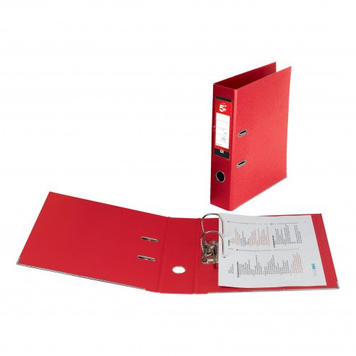 5 Star Office PP L/Arch File A4 Red