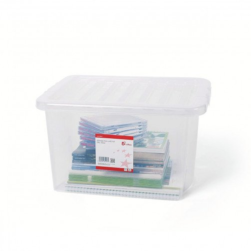 5 Star Storage Box 24L Clear