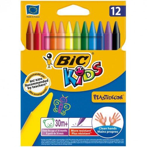 Bic Kids Plastidecor Crayons Bx12 945764