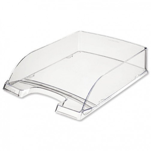 Leitz High Sided Letter Tray Clear