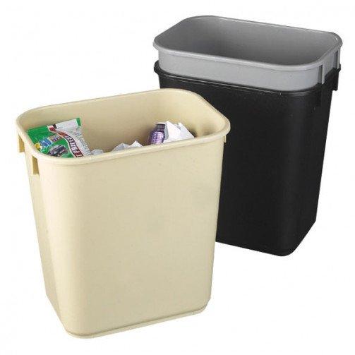 Plastic Wastebasket Rectangular Beige 12L