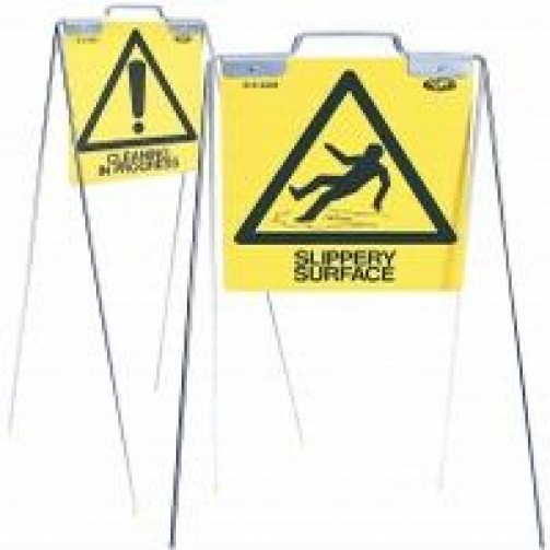 Steel Frame Free Standing Safety Sign