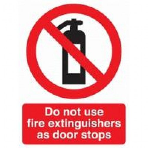"""Self Adhesive Safety Sign """"Do not use..."""""""
