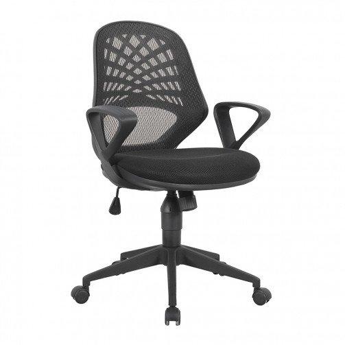 Lena Black - Mesh Back Operator Chair Black