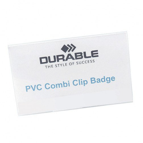 Durable CombiClip NameBadge 54x90mm Pk50