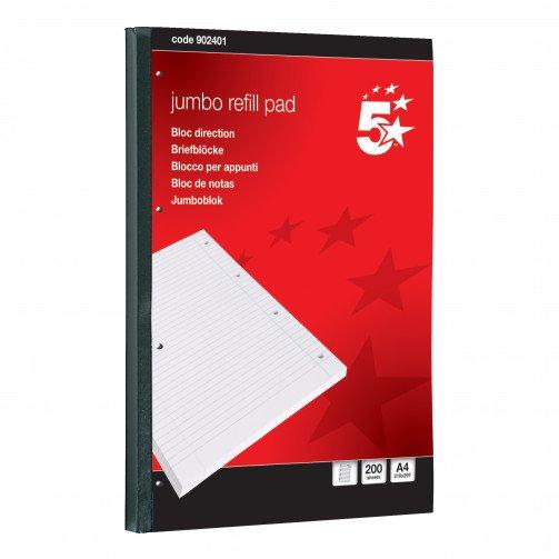 5 Star JumboPad A4Fnt/Mrgn200Sht