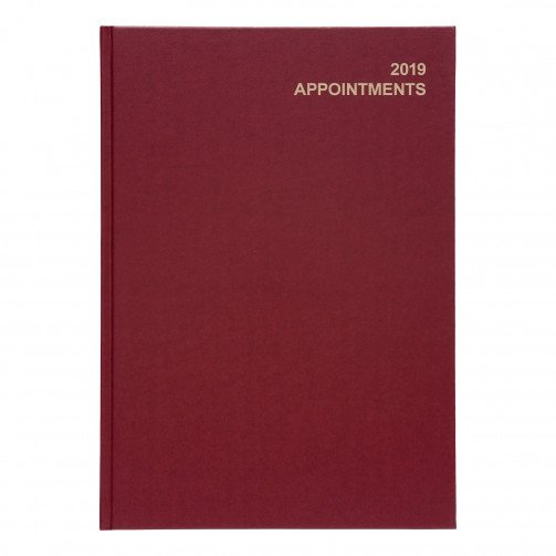 5 Star 2019 A4 Day/Pge Appoint Diary Red