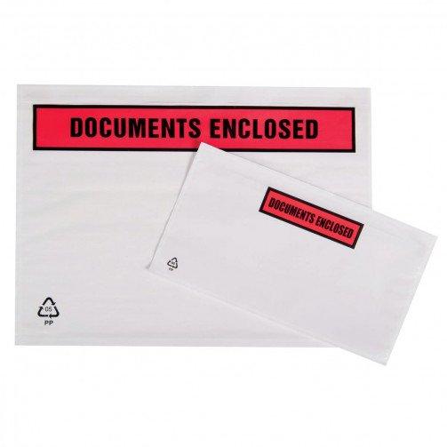 Doc Enc Wallets PrintedA6 168x126 Pk1000