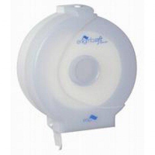 Blue Plastic Midi Jumbo Toilet Roll Dispenser