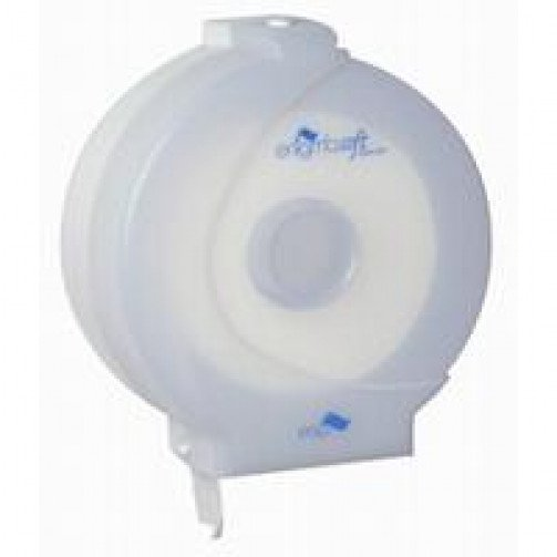 White Plastic Midi Jumbo Toilet Roll Dispenser