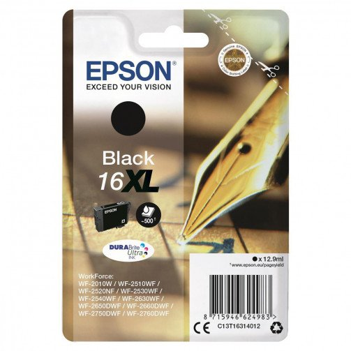 Epson 16XL InkJetCart HY Black T16314012