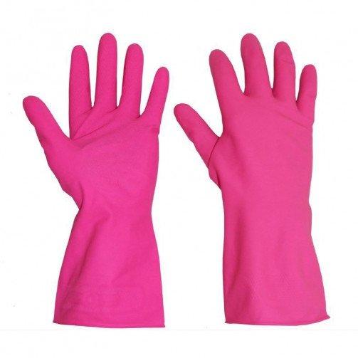 Standard Pink Household Washing-up Gloves