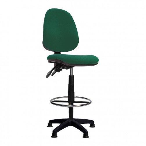 Nile-D Green - High Back Draughtsman Chair  Green