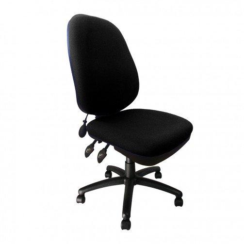 Amazon Black - Pump Up Lumbar Operator Chair Black