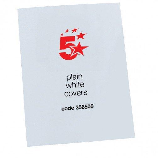 5 Star Office Wht Gloss Pln Cvr A4 Pk100