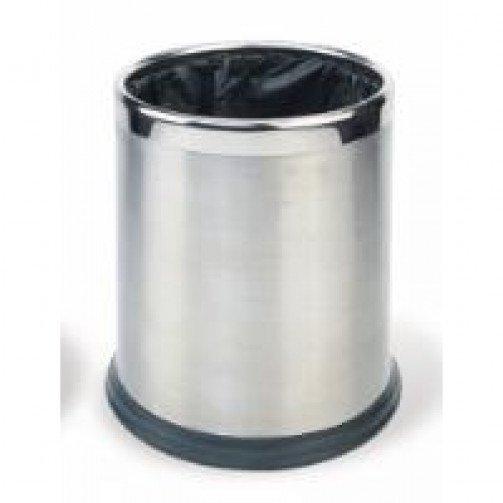 Round Waste Basket 10L Stainless Steel