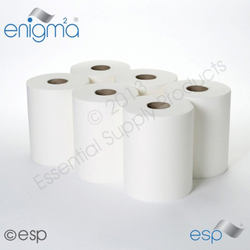 White Roll Centrefeed 1ply -  50m x 6