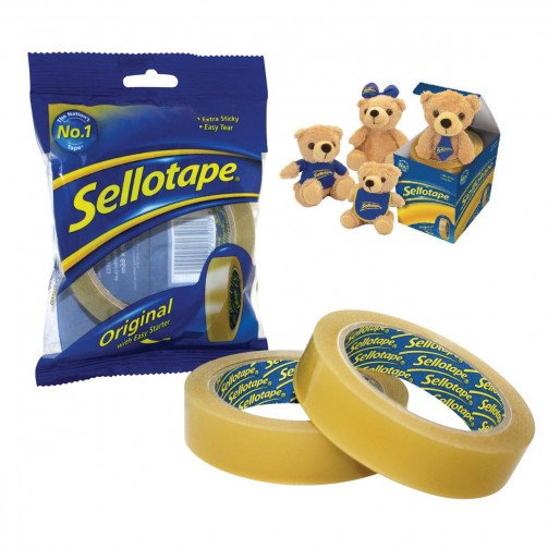 Sellotape GoldTape 24mmx66m&Bear