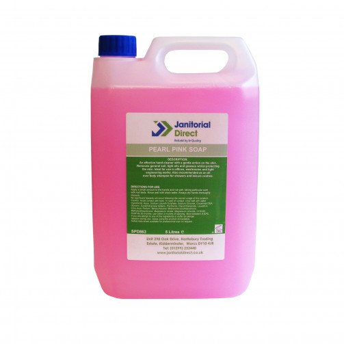 Soap - Liquid Pearlised Pink Hand Wash - 5Ltr