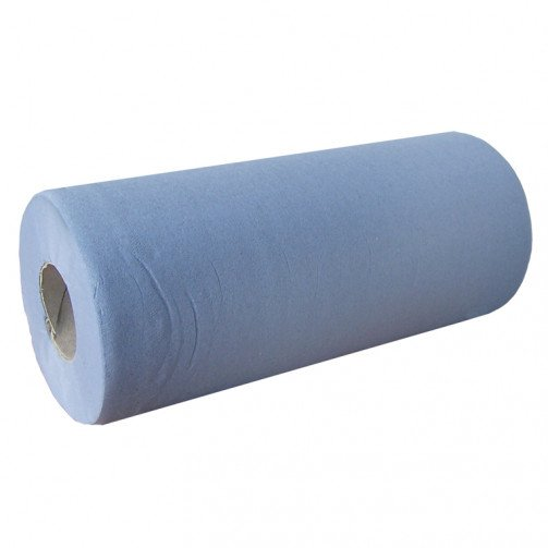 Couch Roll 2ply Blue 10inch x 24 rolls- 100 Sheets per roll