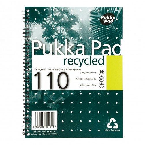 Pukka Pad Recy WBnd NBk A4Pls 110pg RCA4