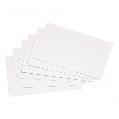 5 Star Rec Cards 127X76 Pln Wht Pk100