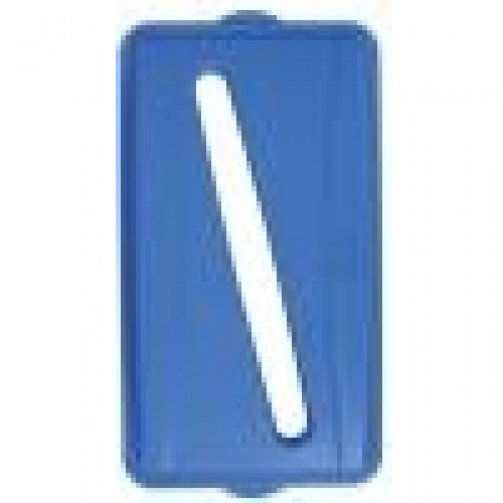 Wall Hugger Recycle Lid Blue With Slot