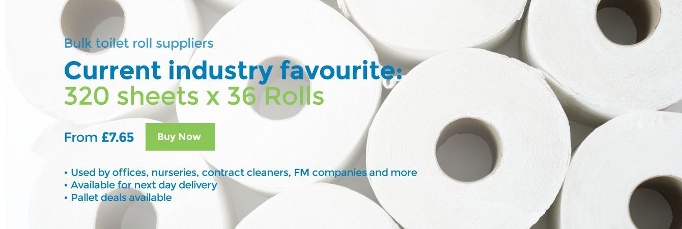 Bulk toiler roll suppliers. Current industry favourite: 320 sheets x 36 Rolls