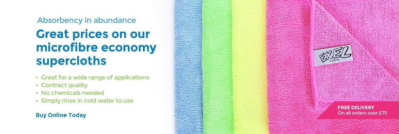 Great prices on our microfibre economy supercloths