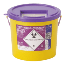 Sharps Bins Purple Lid