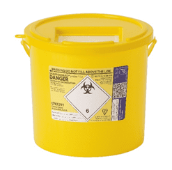 Sharps Bins Yellow Lid